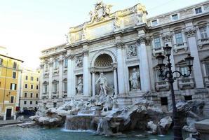 trevi fontän i Rom.