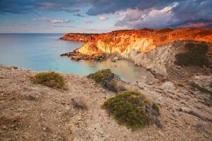 kusten av östra Kreta, Grekland.