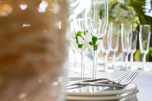 bröllop bord installation utomhus