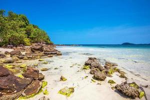 exotisk tropisk strand. foto