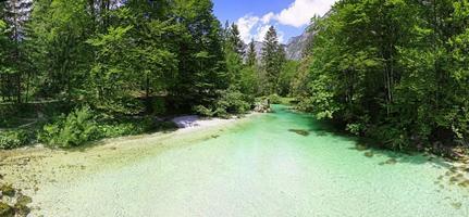 sava bohinjka flod i juliska alperna, Slovenien foto