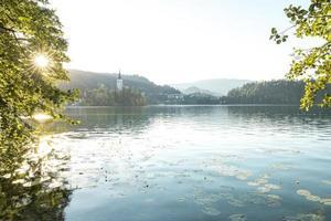 blöda sjön i Slovenien foto