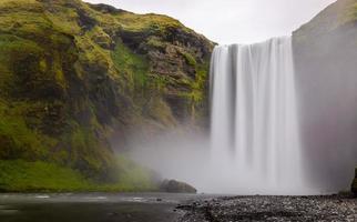 skogafoss vattenfall i södra delen av Island foto
