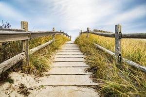 gångväg till stranden