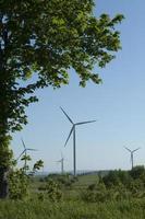 vindkraftverk som genererar kraft