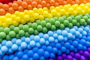 ljusfärgade ballonger foto