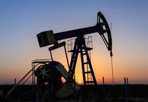driver olja och gasbrunn foto