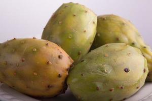 prickig päron kaktus foto
