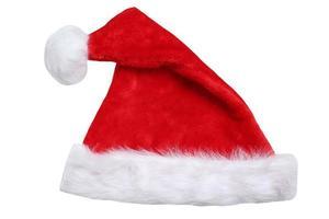 jultomten hatt på juldekoration isolerad foto