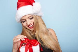 jul santa kvinna.