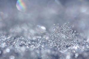 silver snöflinga foto