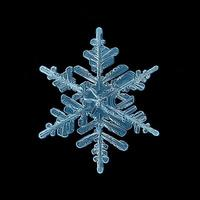 snöflinga kristall svart bakgrund