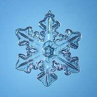 snöflinga kristallblå bakgrund foto