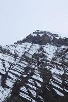 snö på bergen på vintern