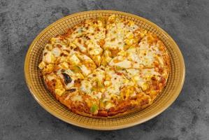 indisk stil av italiensk maträtt paneer pizza