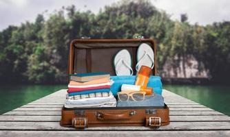 resa, resenär, packa foto