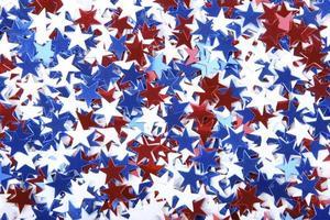 patriotisk konfetti foto