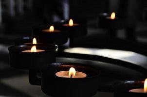 meditation med ljus foto