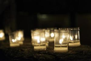 brinnande ljus, pedraza foto