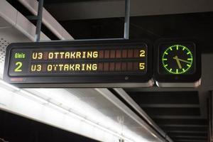 tunnelbanestation i Wien