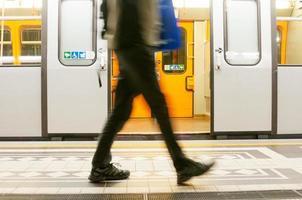 tunnelbana i wien, österrike foto