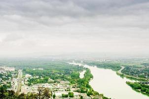 Wienlandskap med Donau från Kahlenberg-berget