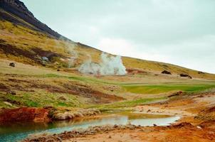gejzery na islandii foto