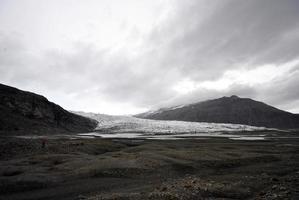 fláajökull glaciär, island foto