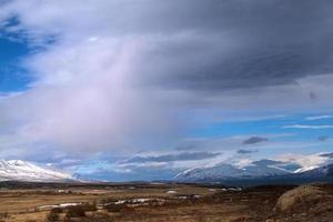 imponerande landskap i norra Island