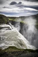 island gullfoss vattenfall