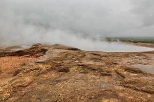geotermiska området på Island. foto