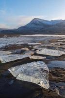 isberg från glaciären, Island