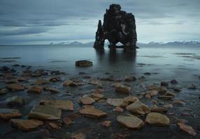 vulkanisk sten i Island