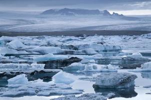 glaciärlagunen i Jökulsarlon, Island