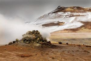 námaskarð geotermiskt aktivt vulkanområde i nordvästra icelan