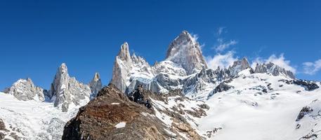 fitz roy bergskedja i patagonien, argentina. foto
