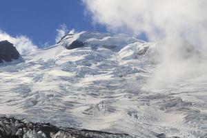 glaciär med moln foto