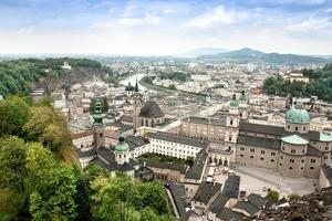 stadsbild av salzburg österrike