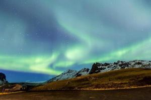 norrsken aurora island foto