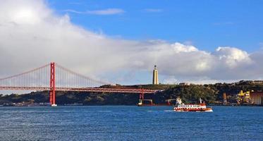 panorama över Lissabon, Portugal