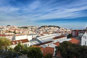 utsikt över centrala Lissabon, Portugal