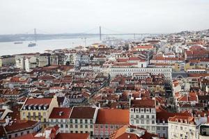 utsikt över Lissabon från Castelo de São Jorge, Alfama