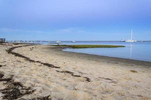 algarve cavacos beach skymninglandskap vid Ria Formosa våtmarker