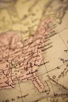 antik karta | östkusten usa foto