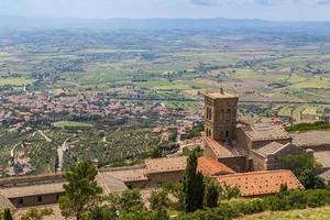 medeltida stad Cortona i Toscana, Italien