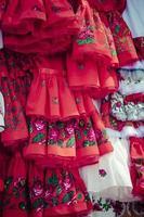 traditionella kläder i zakopane, Polen. foto