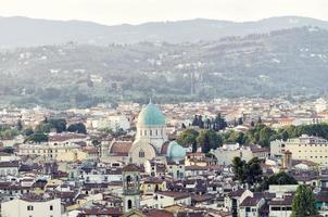 panoramautsikt över Florens med synagogan