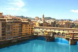 utsikt över ponte vecchio, florens