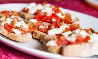 bruschetta toscana. italiensk aptitretare