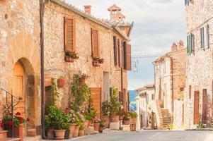 den medeltida gamla stan i Toscana, Italien